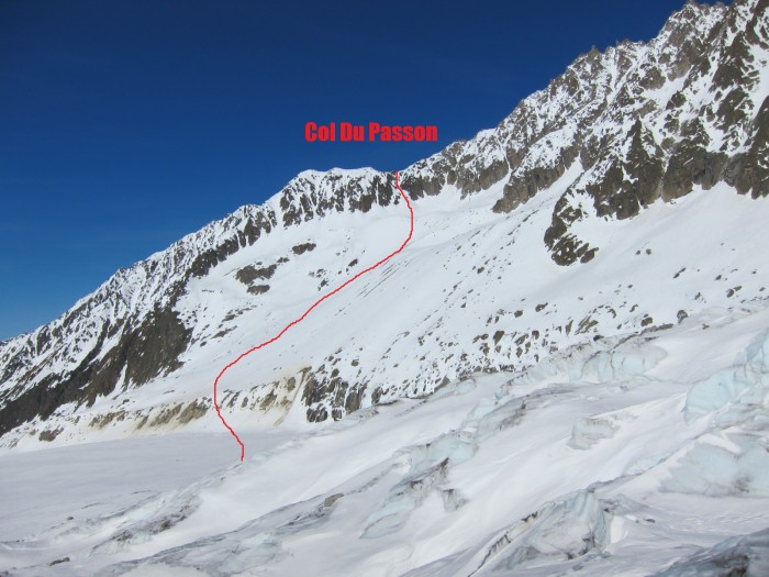 Col Du Passon Chamonix Topo