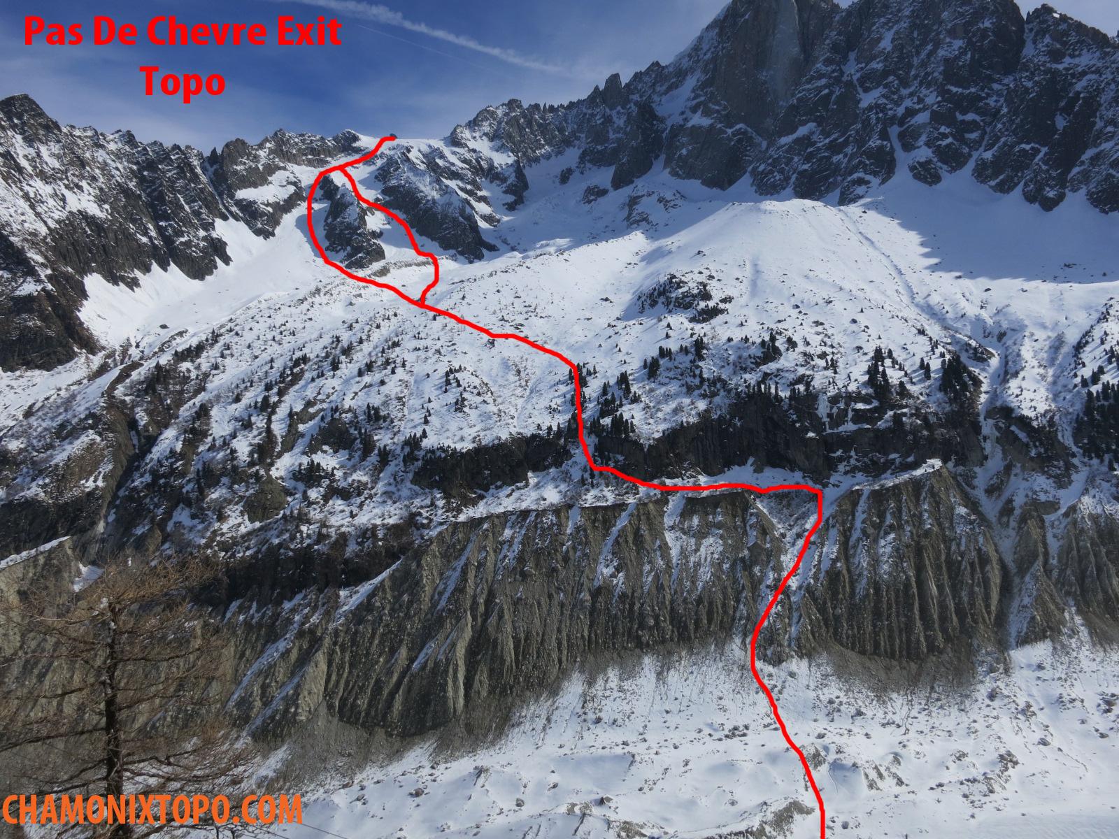 PAS De Chevre Exit TOPO Chamonix Topo