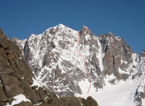 The Whymper Couloir, Aiguille Verte